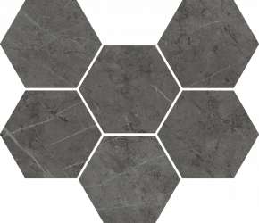 Italon Charme Evo Floor Project Antracite Mosaico Hexagon