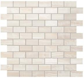 Atlas Concorde Supernova Onyx Wall Pure White Brick Mosaic