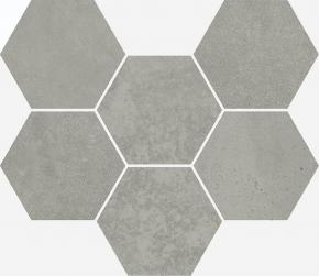 TERRAVIVA GREY MOSAICO HEXAGON