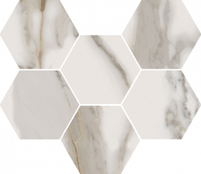 Italon Charme Evo Floor Project Calacatta Mosaico Hexagon