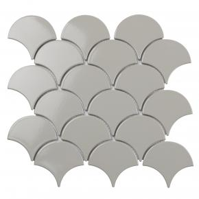 Fan Shape Light Grey Glossy