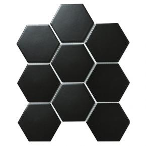 Hexagon big Black Matt