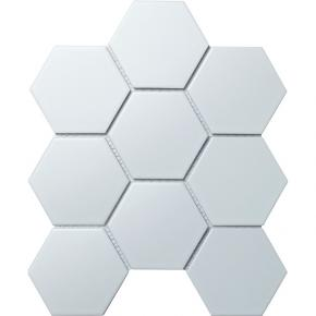 Hexagon big White Matt