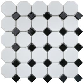 Octagon small White/Black Matt